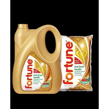 Fortune rice bran Cooking oil - 5 ltr ( Free 1ltr pouch )