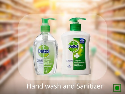 Hand wash and Sanitizer
