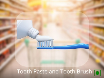 Tooth Paste and Tooth Brush