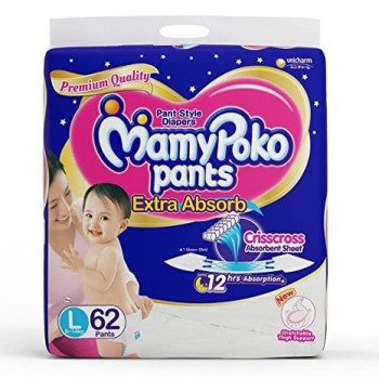 Mamy Poko Pants Diaper, Large, 44'S