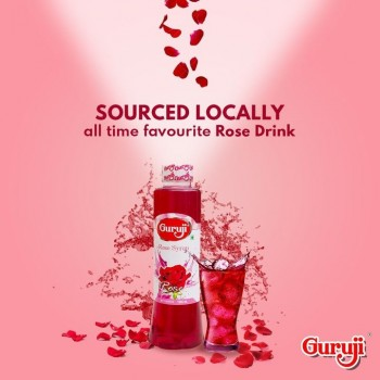 Guruji Rose Syrup 1000ml