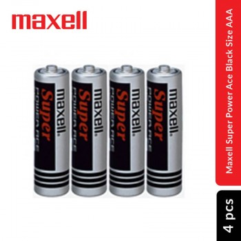 Maxell Super Power Ace Black Battery size AAA, 4 pcs