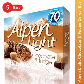 Alpen Light Chocolate & Fudge Cereal Bar - 5 Bars